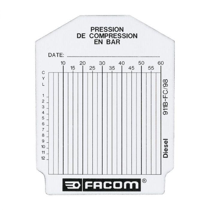 FACOM 911B.FC - 100pc Compression Test Cards