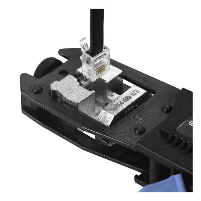FACOM 985902 - Phone Terminal Connector Crimper Plier Set RJ45 Die + Case