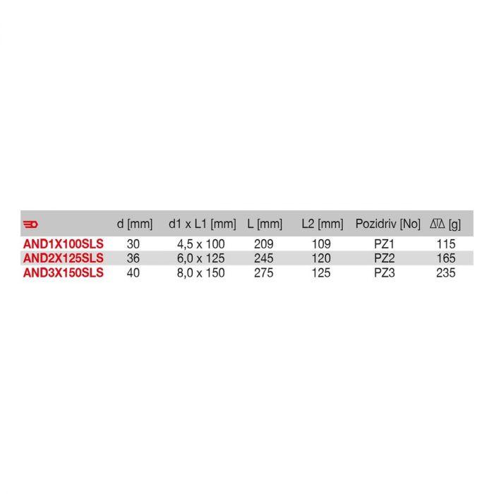 FACOM ANDXSLS - SLS Tethered Pozidriv Protwist Screwdriver