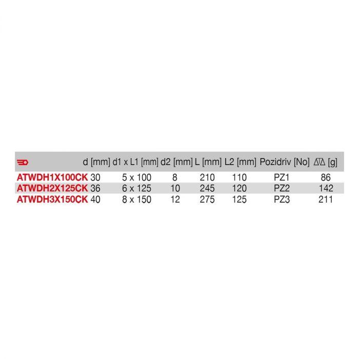 FACOM ATWDHXCK - Pozidriv Protwist Shock Bolster Hex Bar Screwdriver