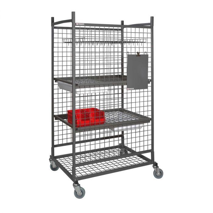 FACOM CR.S11 - Mechanical Component Wheeled Storage Cage + Shelves