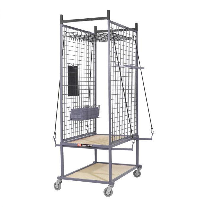 FACOM CR.S1 - Bodywork Component Wheeled Storage Cage + Shelves