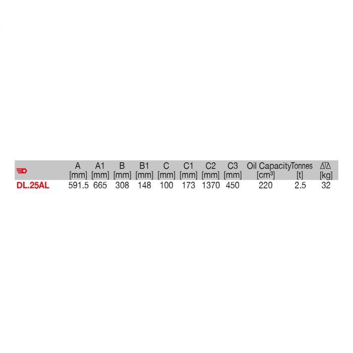 FACOM DL.25AL - 2.5t Aluminium Trolley Jack