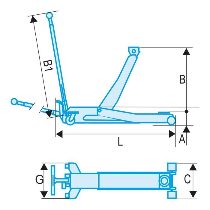 FACOM DL.PL10A - 10t Rolling Jack