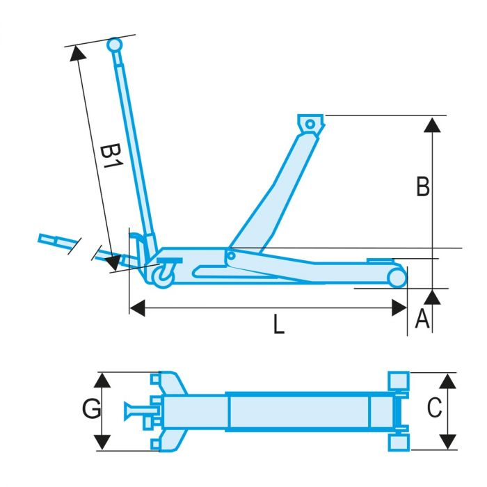 FACOM DL.PL5 - 5t Rolling Jack