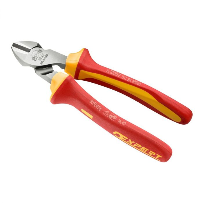 EXPERT by FACOM E192A.XVE - Insulated Diagonal Side Cutter Comfort Grip Pliers