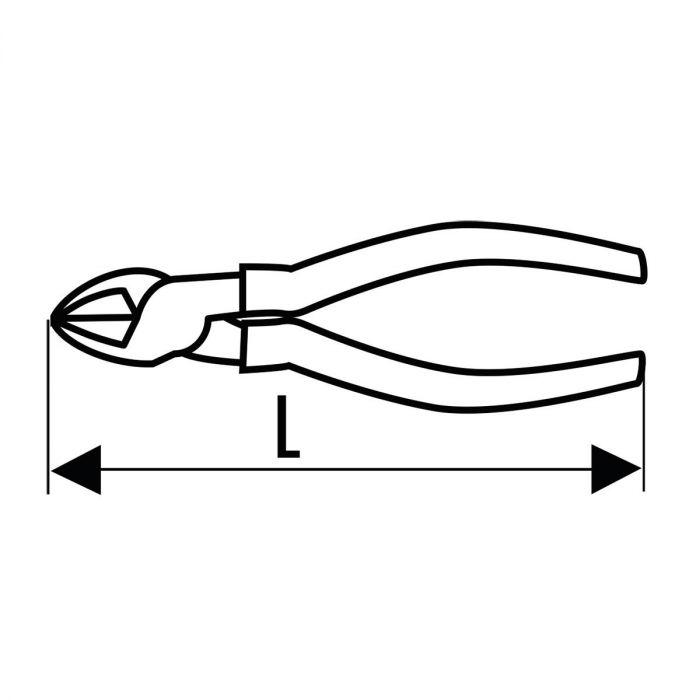 EXPERT by FACOM E192A.X - High Power Diagonal Side Cutter Comfort Grip Pliers