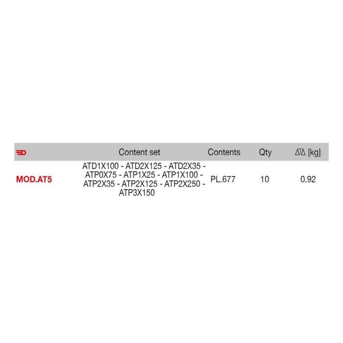 FACOM MOD.AT5 - 10pc Pozidriv Phillips Protwist Screwdriver Module