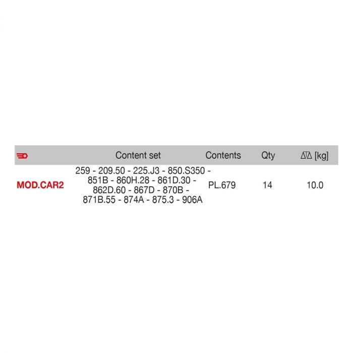 FACOM MOD.CAR2 - Sheet Metal Work 3x Module