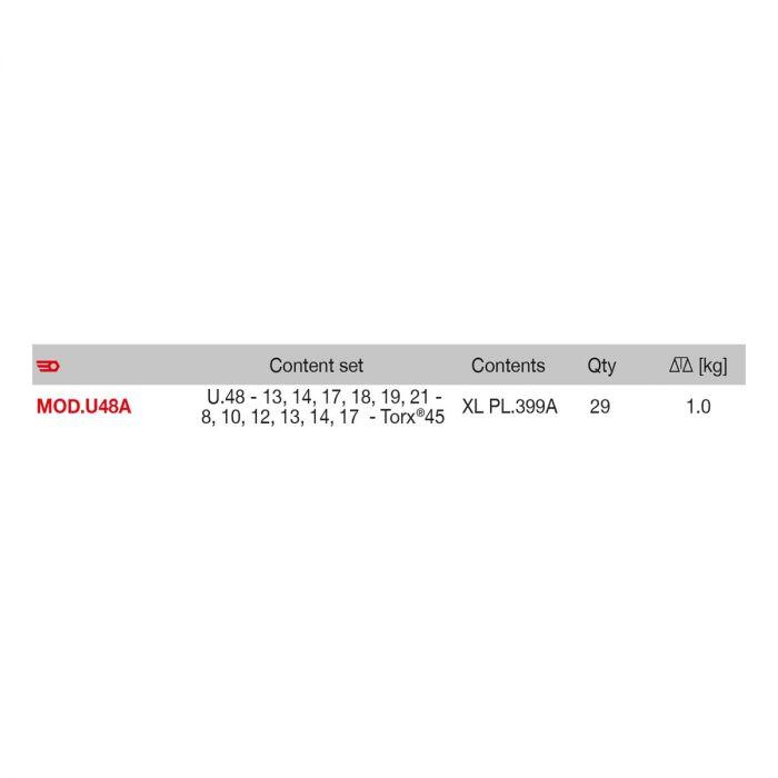 FACOM MOD.U48A - Oil Filter Ratchet Strap Spanner for Cars + Sockets + Bits Module