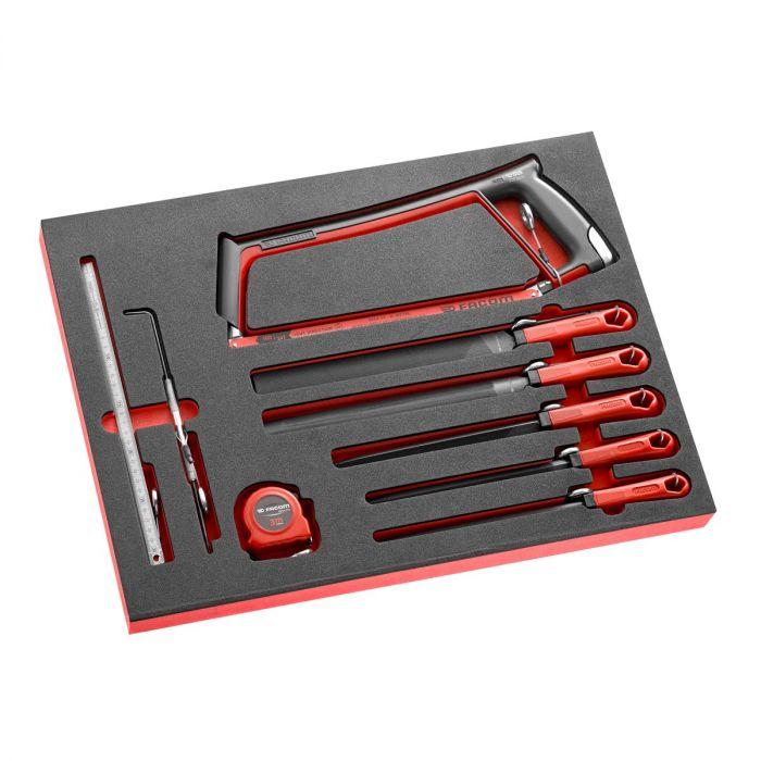 FACOM MODM.601SLS - 9pc SLS Tethered Comfort Grip Hacksaw + Files 3x Foam Module