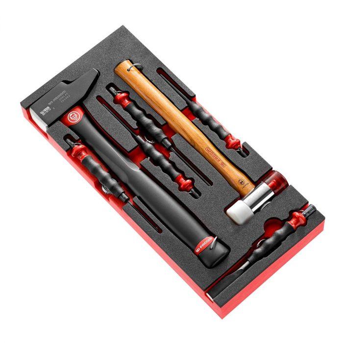 FACOM MODM.MI1SLS - 7pc SLS Tethered Flat Pein Hammer Impact Tools Foam Module