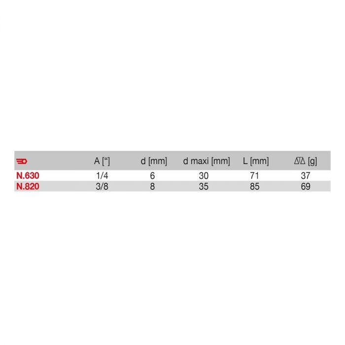 FACOM N.630.820 - Female BSP Snap Hose Connector