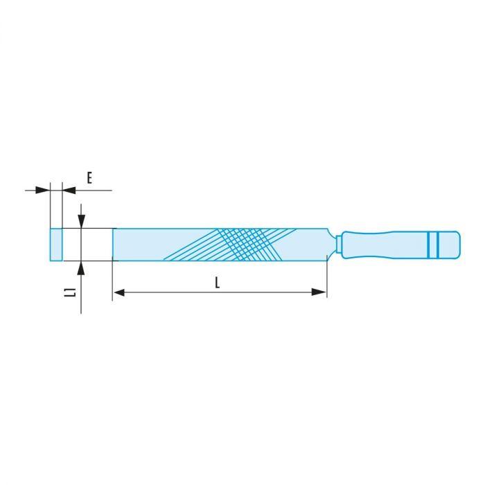 FACOM PAM.MDXSR - Non-Sparking Flat Second Cut Metal File + Handle