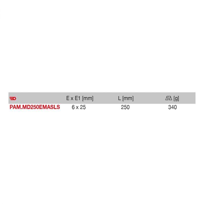 FACOM PAM.MD250EMASLS - 250mm SLS Tethered Flat Second Cut Metal File + Handle